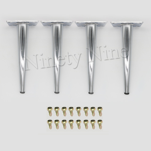 4x Cabinet Legs Kitchen Feet Worktop/Unit/Breakfast Bar/Desk Table Legs Furniture Legs - Metal 80*190MM
