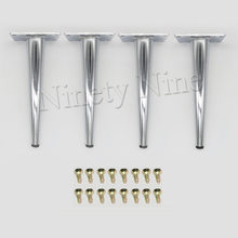 4x Cabinet Legs Kitchen Feet Worktop/Unit/Breakfast Bar/Desk Table Legs Furniture Legs - Metal 80*190MM(China)