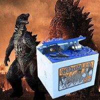 Godzilla Movie Monster Thief Money Boxes Dinosaur Coin Piggy Bank Electric Luminous Music Stealing Money Saving