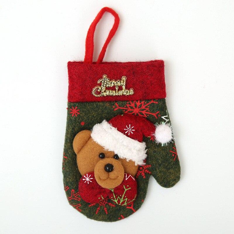 Шляпа Санты, олень, Рождество, Год, карманная вилка, нож, столовые приборы, держатель, сумка для дома, вечерние украшения стола, ужина, столовые приборы 62253 - Цвет: W