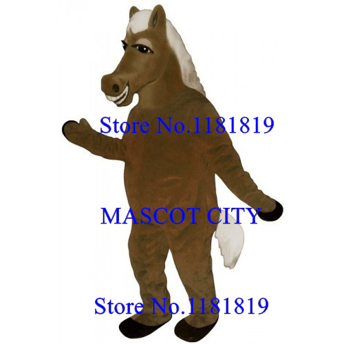 MASCOT CITY Anime Cosplay Costume brown horse Mascot pony mustang Costume Adult Cartoon Character Mascotte Fancy Dress Suit Kits