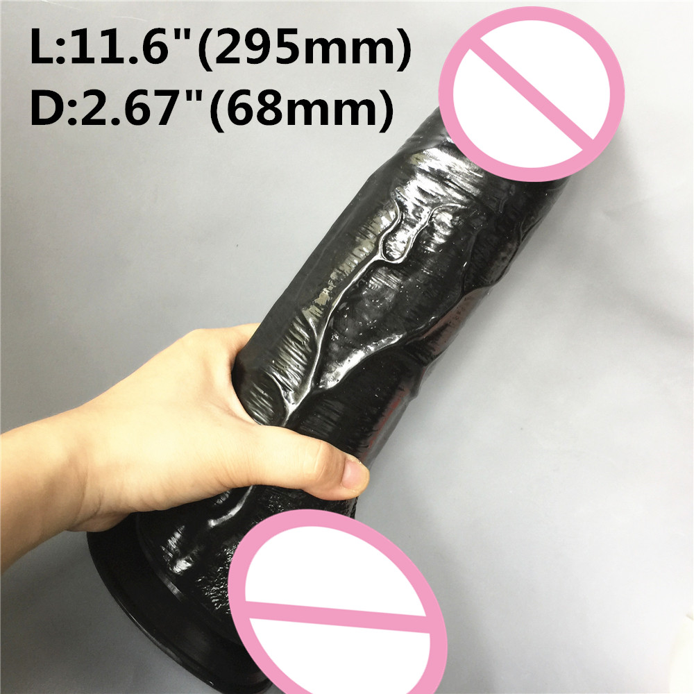 11.6 inch (295mm) super Big Realistic Dildo Super Thick Huge Dildos Sturdy Suction Cup Penis Dick for Women Horse Dildo