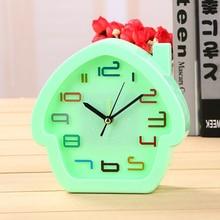 Creative alarm clocks lovely room cartoon clock multifunctional bedside desktop Lazymen birthday gift