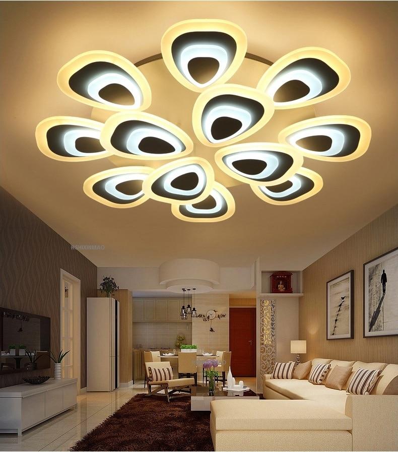 Işıklar ve Aydınlatma'ten Tavan Işıkları'de Yeni yaratıcı modern basit led tavan lambası kapalı oturma odası yatak odası ışık romantik karartma çalışma tavan ışık AC110 240V title=