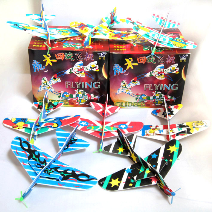 Science toys, magic roundabout aircraft, technology production, can automatically return aircraft, 10 pcs / lot  free shipping
