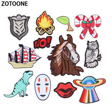 ZOTOONE Aliens Lip Patch Letter Kids Cheap Cute Embroidered Patches  Iron on Cartoon Anime for Clothing DIY Appliques E