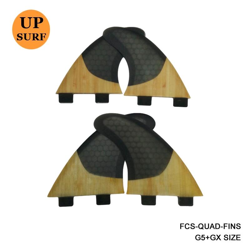 SUP Surfboard FCS-Quad-Fins G5 + GX Quilhas Honeycomb + Bambu Surf - Vattensporter
