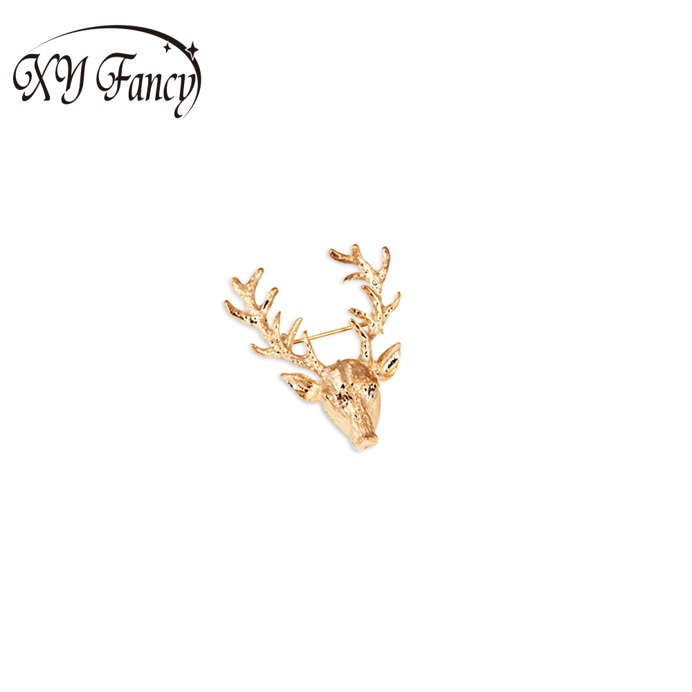 XY Fancy Newest Christmas Ornaments Long Horns Deer Bone Deer Deer Brooches for Women s Ornaments