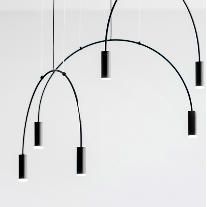 Nordic simple metal chandelier personality DIY free combination for restaurant decoration LED hanging lighting G9 blackNordic simple metal chandelier personality DIY free combination for restaurant decoration LED hanging lighting G9 black