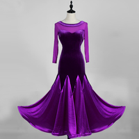 velvet modern dance performance standard ballroom dress