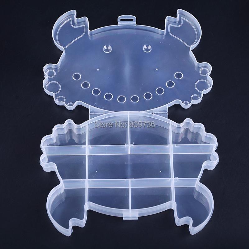 11 слотов Отсек Кольцо piering ювелирных изделий ясно коробка для хранения случае Бусины держатель Craft Макияж Организатор Пластик Дисплей дешев...