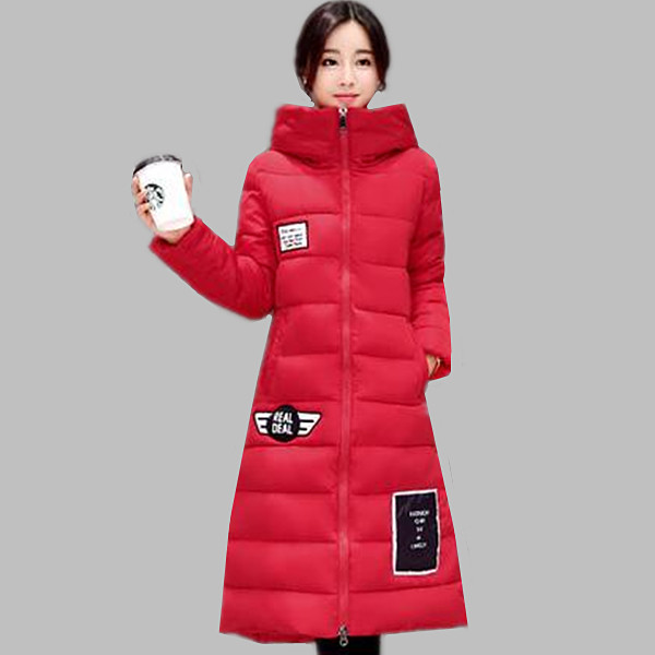 ФОТО 2016 Winter New Fashion Long Coat Slim Thickened Turtleneck Warm Winter Jacket Women Cotton Padded Jackets Plus Size Parkas A313