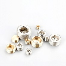 Free shipping All-copper inner hexagonal stuffy head outer teeth copper plug wire iron water pipe