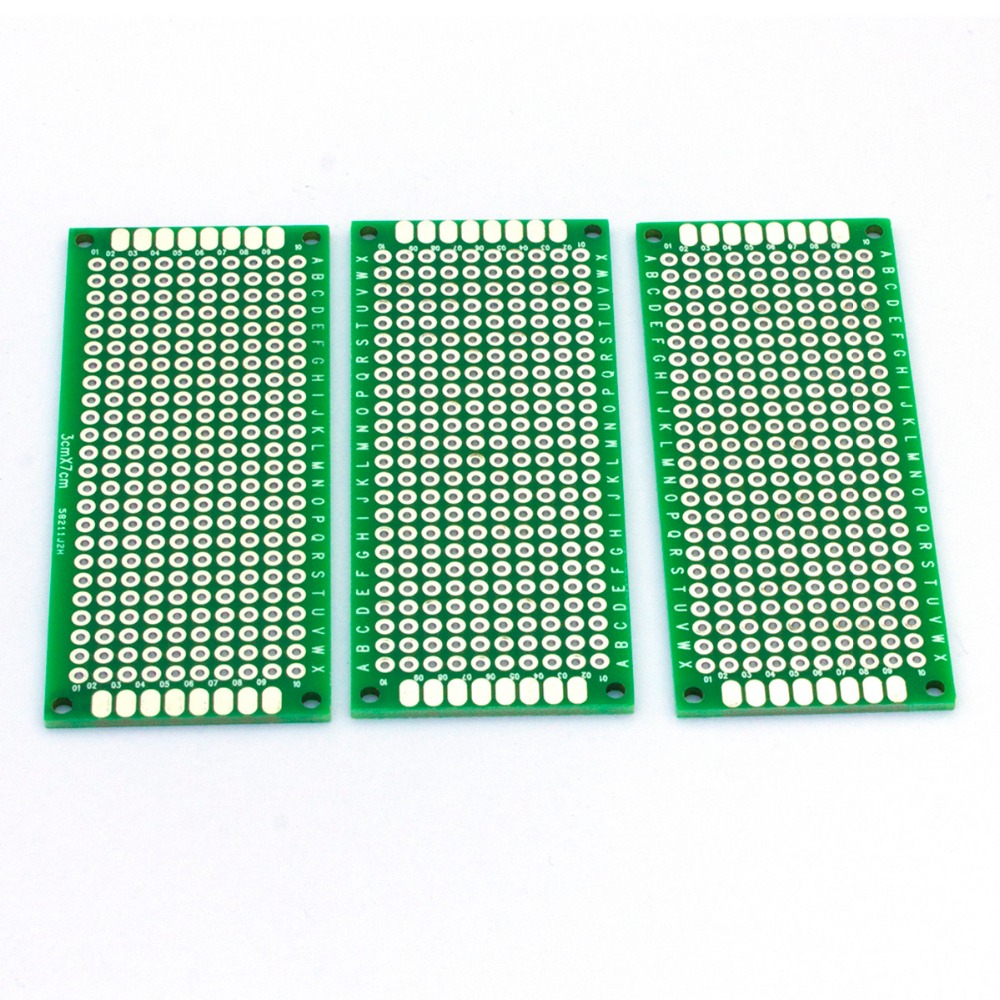 10pcs Single Sided Pcb Printed Circuit Board Prototype Breadboard Double 7cm X 5cm