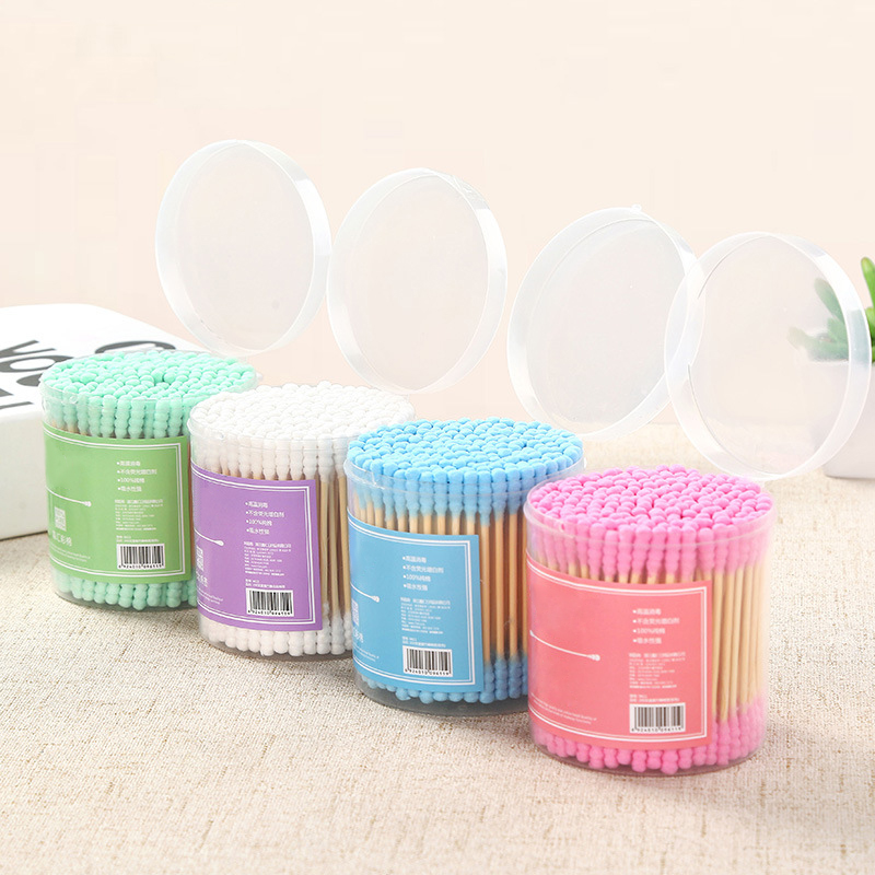 Cosmetic Makeup Cotton Swab Stick  Head Ear Buds Cleaning Tools New Hot Selling 200PCS/SET TSLM1