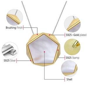 Image 5 - Colgante de joyería fina con diseño de ángulos geométricos para mujer, Lotus Fun, estilo norte europeo, sin collar, Plata de Ley 925 auténtica