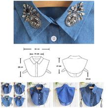 2019 Newly Hot Fake Collar Shirt Jeans Detachable False Collars Blouse for Women Clothes Tops HD88