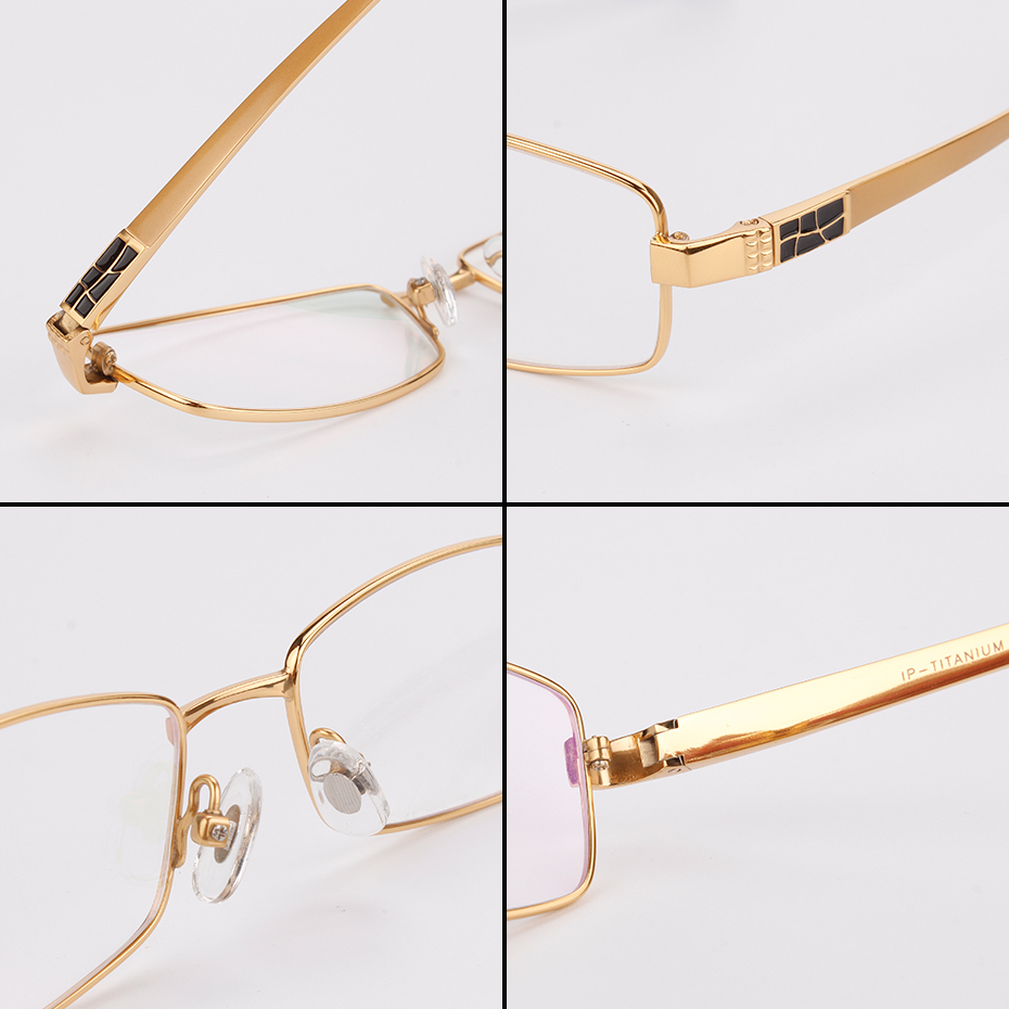 Мъжки очила с пълен обем чист титанов - Аксесоари за облекла - Снимка 5