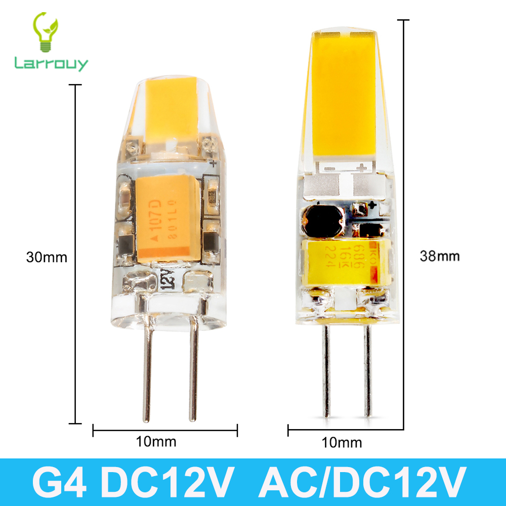 Mini <font><b>G4</b></font> LED Lamp COB LED Bulb <font><b>3W</b></font> 6W DC AC <font><b>12V</b></font> LED <font><b>G4</b></font> COB Light Dimmable 360 Beam Angle Chandelier Light Replace Halogen <font><b>G4</b></font> Lamps image