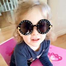 Fashion Round Steampunk Kids Sunglasses Brand Luxury Girls Children Bee Sun Glasses Oculos De Sol