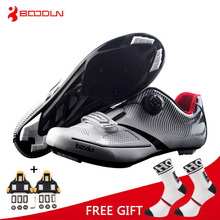 Boodun Breathable Pro Self Locking Cycling Shoes Road Bike Bicycle Shoes Ultralight Athletic Racing Sneakers Zapatos