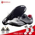 Boodun respirável pro auto-bloqueio ciclismo sapatos de bicicleta de estrada sapatos ultraleve tênis de corrida atlético zapatos