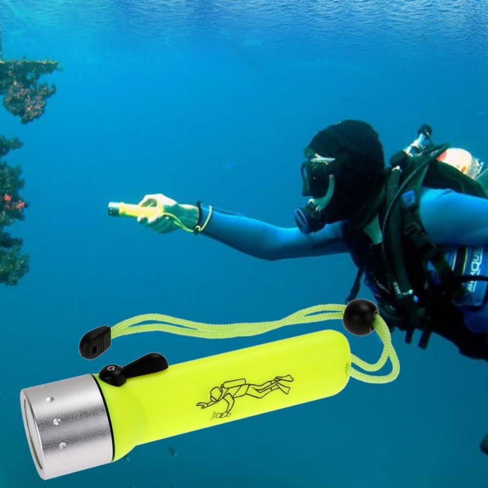 LED Q5 Diving Flashlight Waterproof scuba Torch Underwater AA Flash Light Lamp