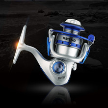 Mini BM150 Gapless Metal Fishing Line Coil Reel Superlight GR 5.5:1 Hand Wheel Short Sea Tackle Gear