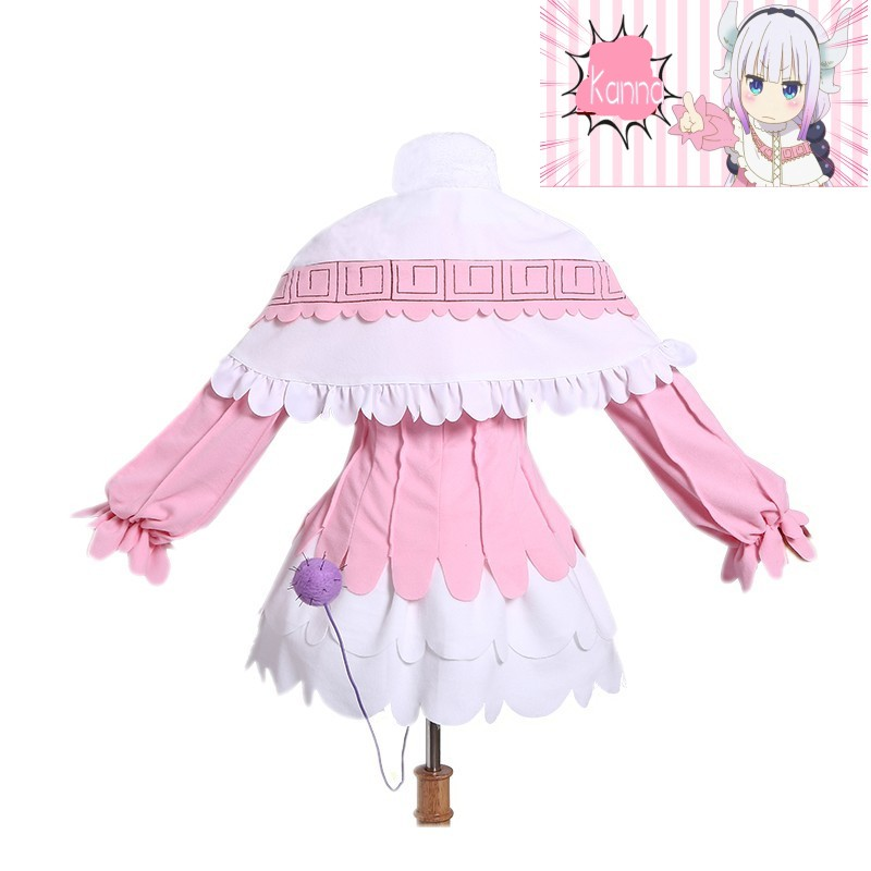 New anime With Wig Miss kobayashis dragon maid kanna cosplay costumes girls clothing cosplay For Women cosplay costume
