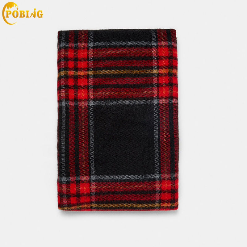 POBING Luxury za Brand Striped Plaid Cashmere   Scarf   Women Basic   Scarves     Wraps   Shawl Warm Winter Blanket Pashmina Lady Cape Stole