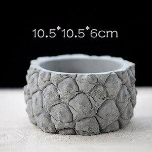 Design em forma de abacaxi flowerpot concreto molde de silicone cimento planta suculenta flowerpot molde