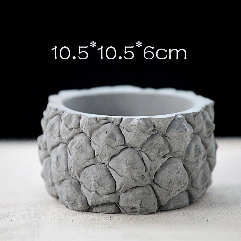 Pineapple shaped design concrete flowerpot silicone mold cement succulent plant flowerpot mold
