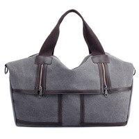 Vintage Travel Bags Hand Luggage Women Large Capacity Ladies Bag Women Canvas Tote Crossbody Bag Women