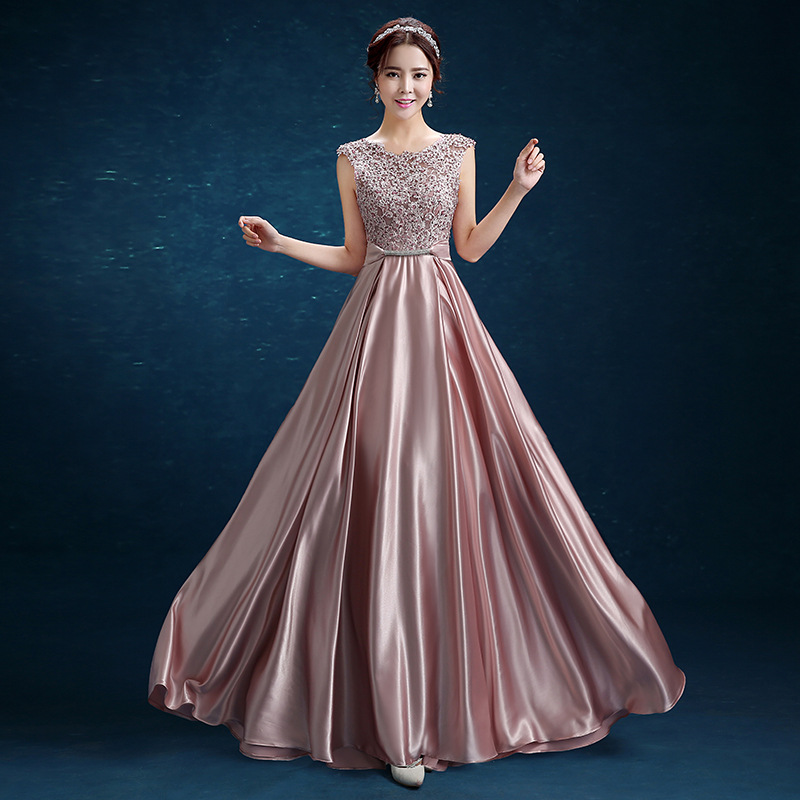 U-SWEAR New Fashion Elegant O-Neck Sleeveless Backless A-Line Slim Evening Dresses Long Formal Dress Vestidos De Fiesta De Noche