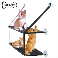 ФОТО pet supplies cat hammock suction cup hanging window hanging tray cat litter single bed double pet bed cama gato cama para gato