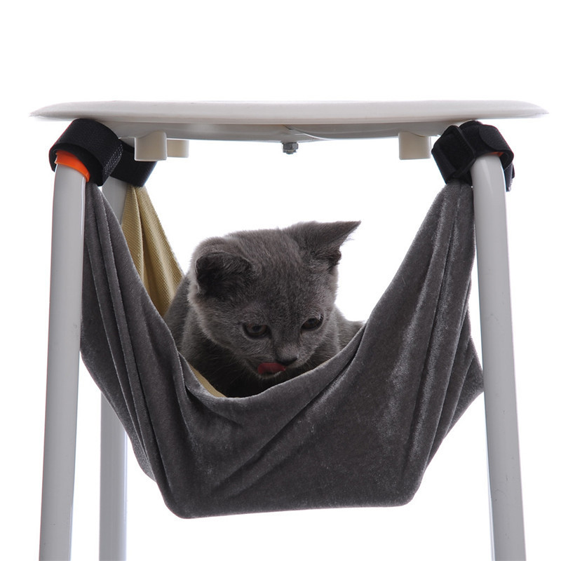 37*37&48*48cm S/M Cat Bed Pet Kitten Cat Hammock Removable Hanging Soft Bed Cages for Chair Kitty Rat Small Pets Swing(China)
