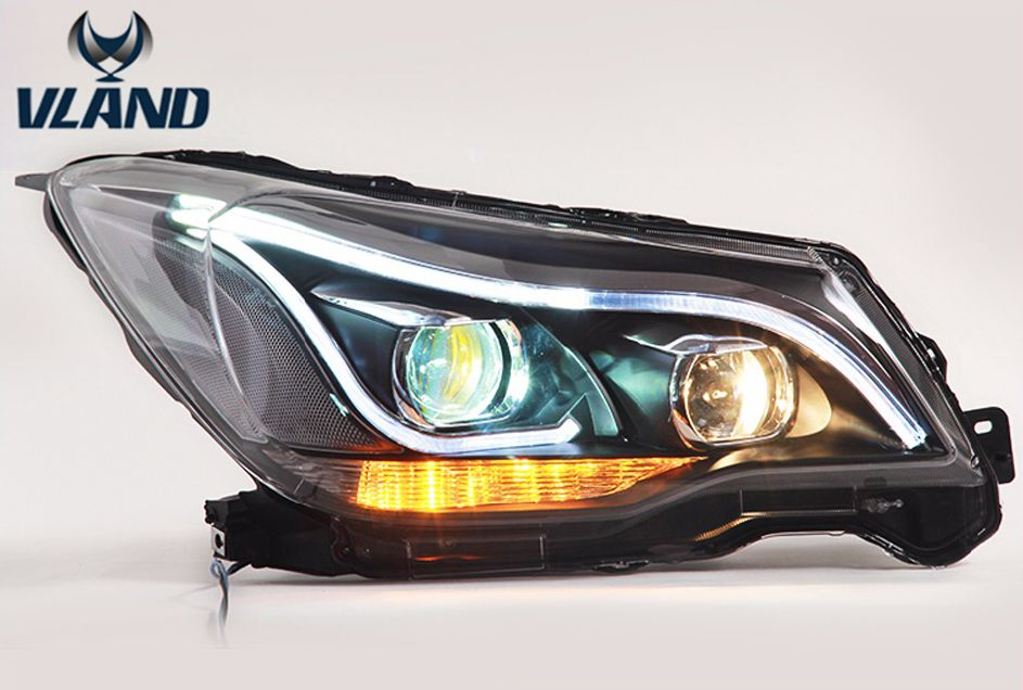 VLAND manufacturer Car head lamp for Subaru Forester LED Headlight 2013 2015 Head light with xenon HID projector lens and Day xl 2200u manufacturer tv projector lamp
