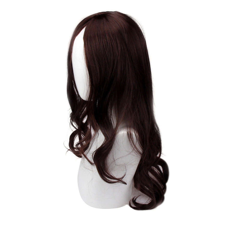 Party Natural Dark Brown wigs for women Long Curly Hair wigs synthetic hair 2018 6523A