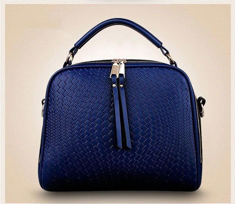 2015 Autumn New Arrival Women Weave Tassel Women PU Leather Handbags Women Shoulder Bag Ladies Casual Messenger Bags BH1150 (12)