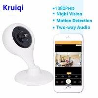 Kruiqi 2MP IP Camera 1080P Wi Fi Wireless Surveillance Camera WiFi P2P Security CCTV Network Baby Monitor Two Way Intercom IR