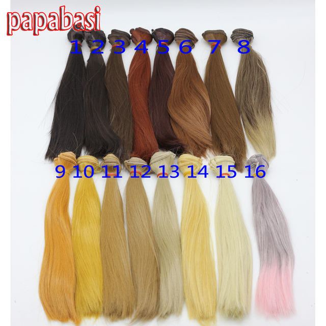 25*100cm  Retail Dolls Accessories Straight Synthetic Fiber Wigs Blond/Brown 1/3 1/6 BJD Wig Hair Doll