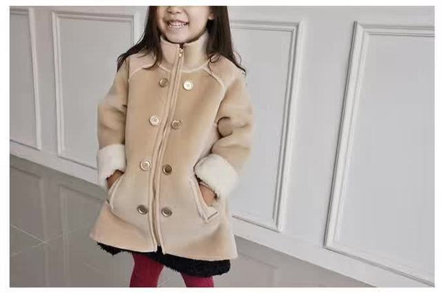 Babys Faux Leather Coats Kids Snow Coats Fleece Lining Thick Cotton Outerwear Coats England Children Coats Fashion Free Shipping
