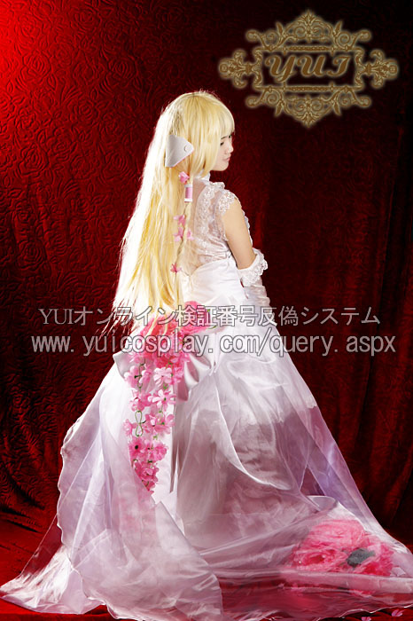 Hot Anime Chobits Eruda White Wedding Party Dress Lolita Skirt Cosplay Costum Full Set Any Size NEW
