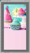 Thick canvas cupcake photo backgrounds firework birthday photography backdrops for photo studio props fotografia G-102