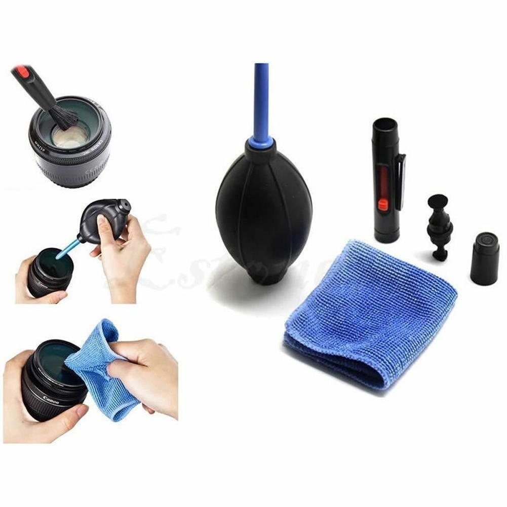 3in1 Dust Cleaner Suit LENSPEN Lens Camera Cleaning Lens Brush Air Blower Wipes Cloth Kit for Gopro Nikon Camcorder VCR DSLR