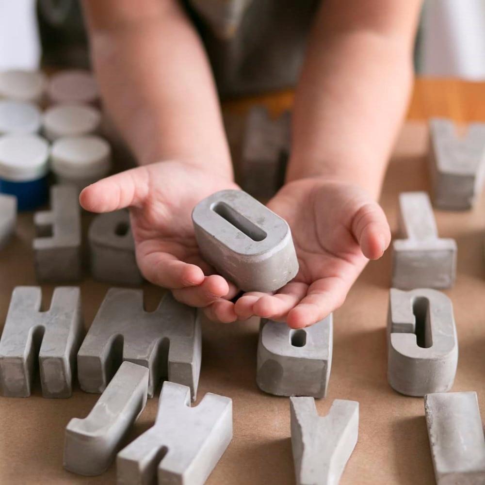 Concrete Letter Molds Plaster Number Silicon Mold Concrete Capital Letter Mold Lowercase Letters Digital Mold