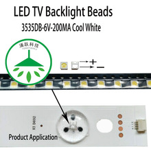 100pcs/lot new high power cool white lamp beads 6v for lcd tv repair led tv backlight strip light-diode 3535 smd