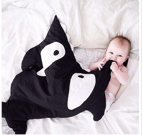 Ins infantil saco de dormir dentro e tecidos de algodão A baleia tubarão modelagem quilt unisex saco de dormir do bebê das meninas dos meninos 8 cores