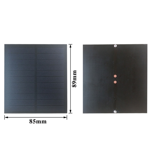 1Pcs 5.5V150mA 89mm*85mm PET Laminated Monocrystalline Silicon Solar Cell, Solar Panel