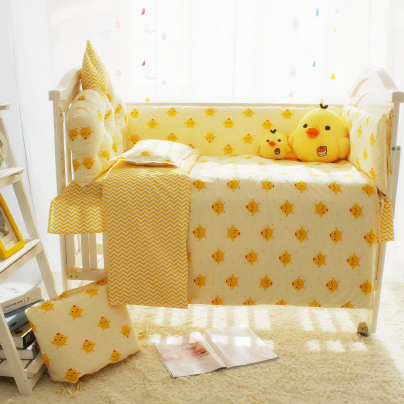 Акция! Симпатичные новорожденных кроватки Постельное бельё кожи 100% хлопок детская кроватка Постельное белье 7 размеров постельное белье Ко... ...